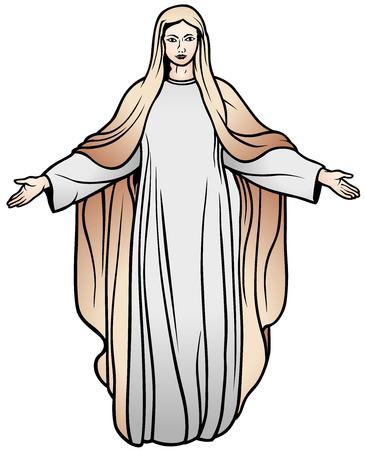 jungfrau maria: Jungfrau Maria - farbige Darstellung