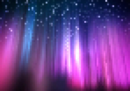 fountains: Abstract Square Pixel Mosaic Background - Colored Light Fountain Illustration, Vector