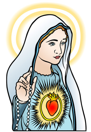 virgen maria: Virgen Mar�a - Ilustraci�n de color, Vector