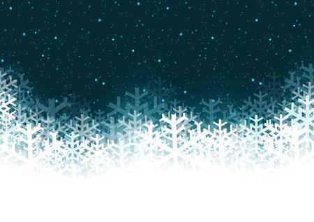 크리스마스 배경 - 눈송이와 추상 그림, 벡터