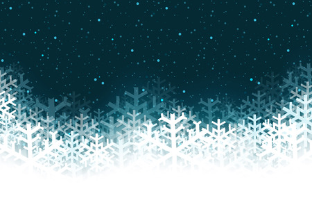snow fall: Christmas Background - Abstract Illustration with Snowflakes, Vector