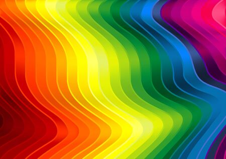 striped texture: Rainbow Striped Texture - Background Illustration, Vector