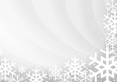 holiday greeting: Gray Xmas Background with Snowflakes - Illustration, Vector