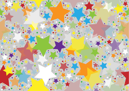 Colored Stars Texture - Repetitive Background Illustration, Vector Illustration