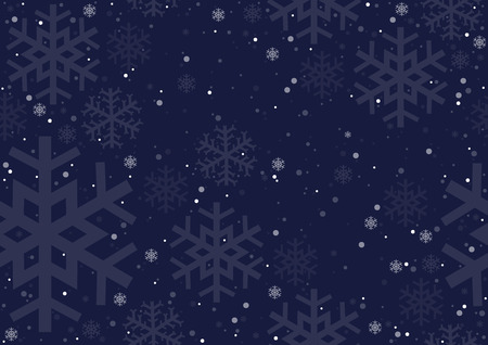 Christmas Snowflakes - Repetitive Background Illustration, Vector  イラスト・ベクター素材