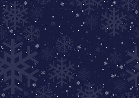 r�p�titif: Flocons de neige de No�l - Fond r�p�titive illustration, vecteur Illustration