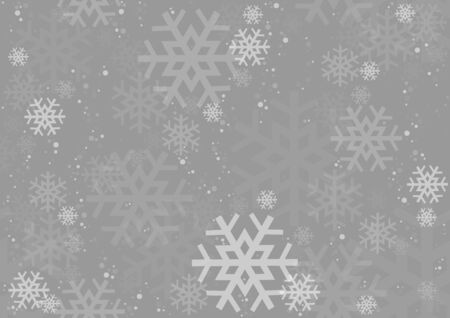 Christmas Snowflakes Texture - Repetitive Background Illustration, Vector