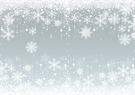 Snowflakes Winter Background - Christmas Illustration, Vector