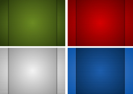 hem: Striped Paper Background - Design Element Illustration, Vector