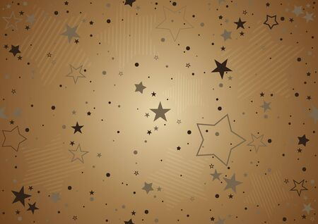stripes pattern: Christmas Background with Stars - Bronze Repetitive Illustration