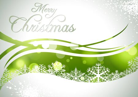 green backgrounds: Merry Christmas Greeting Card - Abstract Illustration, Vector