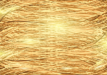 threads: Golden Threads Background with Glow Effect - Background Illustration