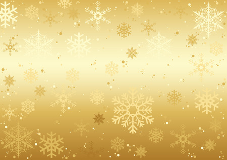 Christmas Snowflakes Texture - Golden Background Illustration