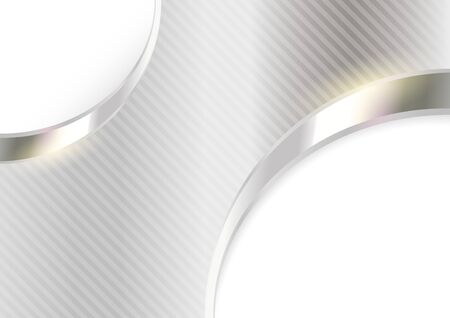 vector background: Silver Striped Background - Metallic Texture Illustration, Vector