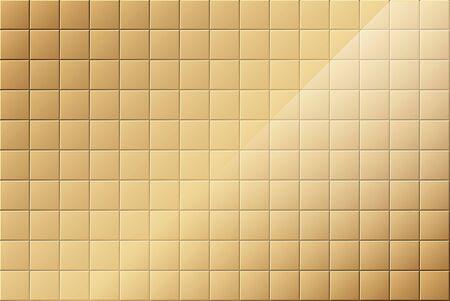 clean bathroom: Bronze Tiled Background - Colored Illustration, Vector Illustration