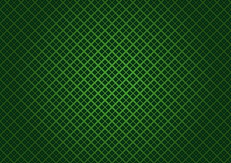 Green Checkered Texture - Fabric Background Illustration