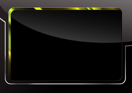 hi tech background: Black Glossy Background - Abstract Illustration, Vector