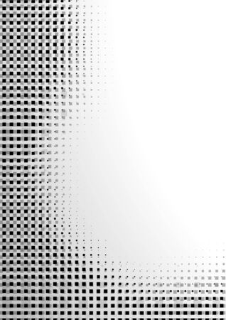 halftone cover: Black Pixelated Abstraction - Background Illustration, Vector Illustration