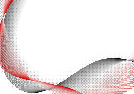 vector backgrounds: Red and Black Wave - Abstract Lines Background Illustration, Vector