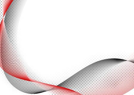 fondo rojo: Rojo y Negro onda - Líneas abstractas fondo Ilustración, Vector