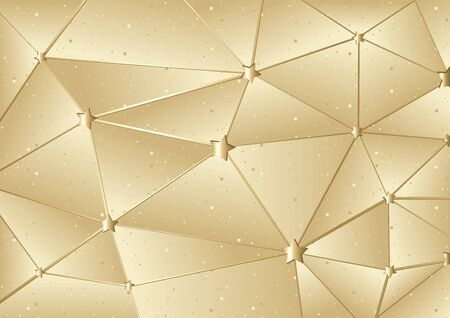 mesh: Golden Xmas Mesh Background - Abstract Illustration, Vector