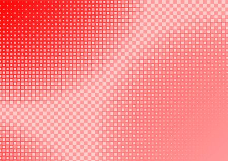 squared: Abstract Red Squared Background - Mosaic Illustration, Vector
