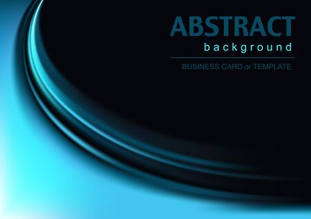 Abstract Background with Blue Effect - Background Illustration, Vector