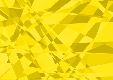 illustration abstract: Yellow Crystalline Background - Abstract Illustration, Vector