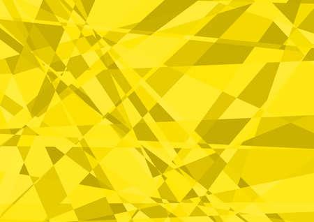 crystalline: Yellow Crystalline Background - Abstract Illustration, Vector