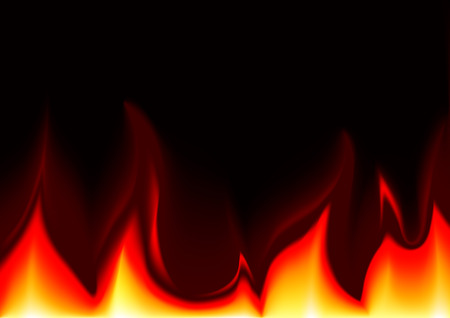 flames background: Flames Background - Abstract Illustration, Vector Illustration
