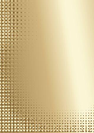 pixelated: Golden Pixelated Background - Abstract Illustration, Vector Illustration