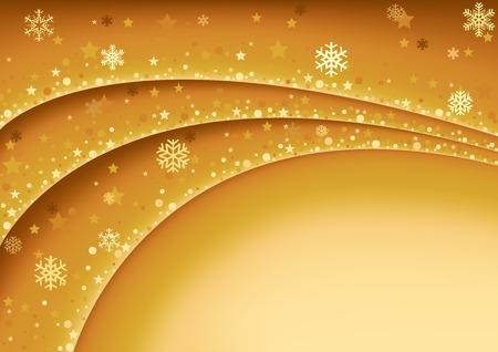gold christmas background: Gold Christmas Background - Abstract Illustration, Vector