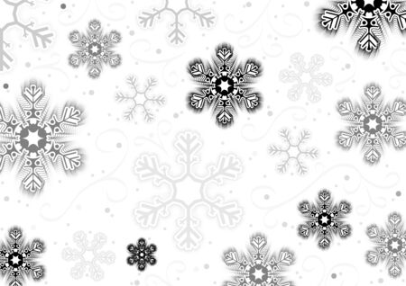 christmas motif: Christmas Snowflakes Background - Abstract Effective Illustration, Vector