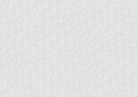 White Structured Texture with Geometric Shapes - Background Pattern, Vector