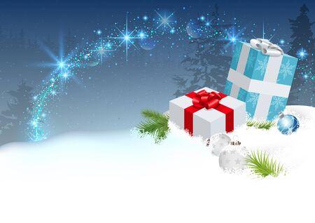 sparkling: Christmas Surprise with Sparkling Effect - Background Illustration, Vector