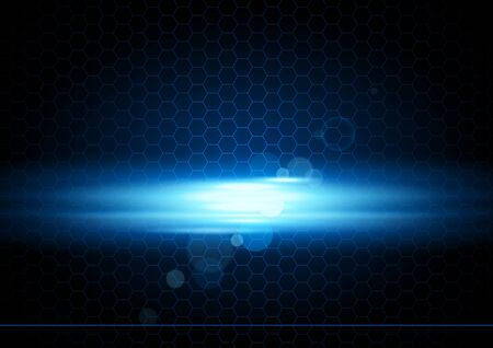 light beams: Blue Abstract Background with Glowing Light Beams - Illustration