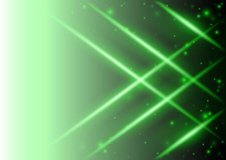 beams: Green Abstract Background with Light Beams Effects - Illustration, Vector