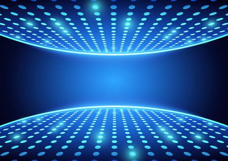 Blue Spotlights Dance Floor - Abstract Background Illustration, Vector Illustration