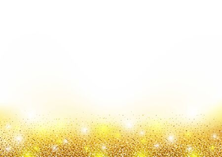 gleaming: Golden Glittering Background - Abstract Illustration, Vector