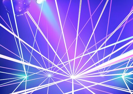laser show: Disco Background with Laser Show Effects - Abstract Illustration, Vector Illustration