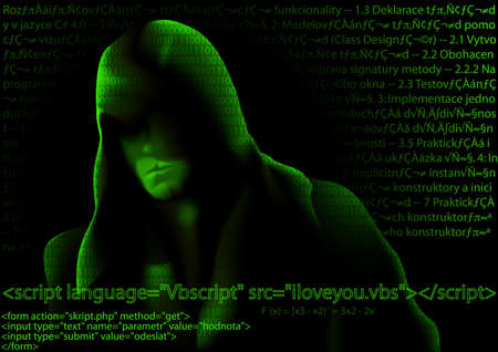 cybernetic: Hacker and Computer Codes - Abstract Background Illustration, Vector Illustration