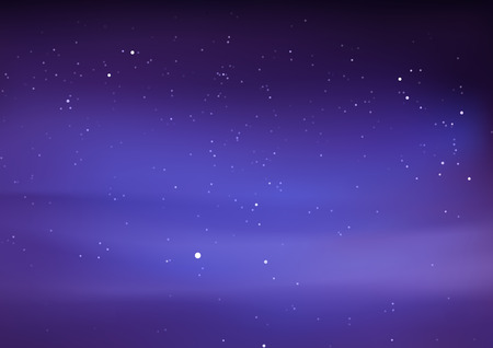 cosmology: Night Sky with Stars - Abstract Background Illustration Illustration