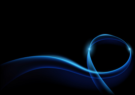 light ray: Blue Lightning Curves - Abstract Background Illustration with Blue Transparent Lines