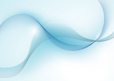 undulate: Blue Abstract Wave Lines Background - Illustration