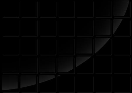 Sfondo nero di piastrelle geometrica illustrazione con la
