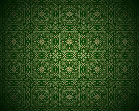 repetitive: Pattern Background - Green Repetitive Tiled Texture, Illustration Illustration
