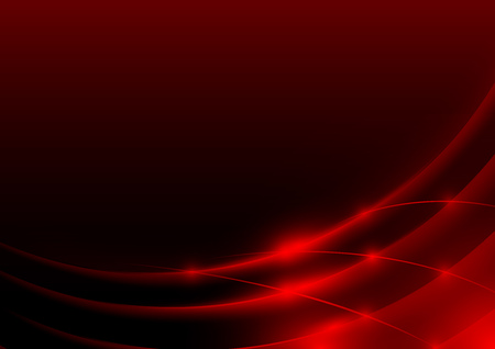 Red Glowing Edges - Abstract Background Illustration, Vector