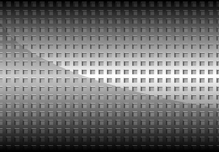 industry pattern: Chrome Perforated Metal Grid Background - Detailed Illustration, Vector