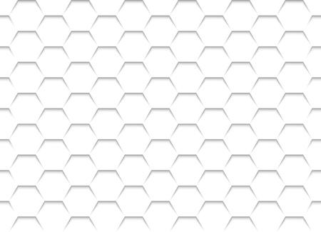 Blanc Grille nid d'abeilles Texture - Fond Illustration, vecteur