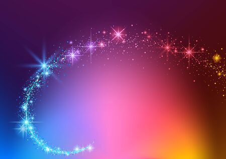 Colorful Background with Sparkling Stream Effect - Abstract Illustration